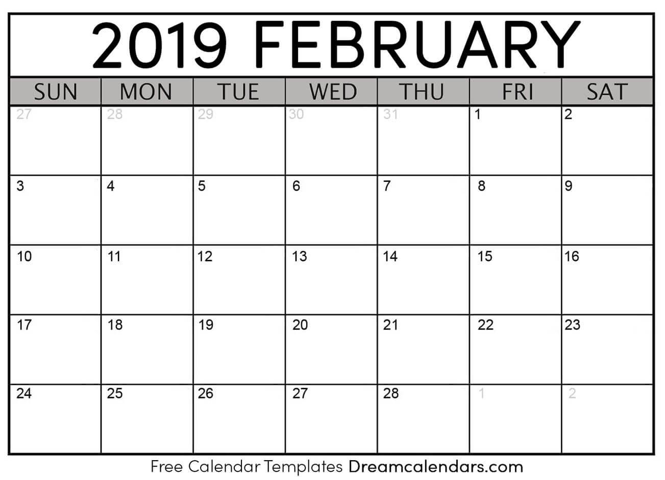 Ko Fi Printable February 2019 Calendar Ko Fi Where Creators