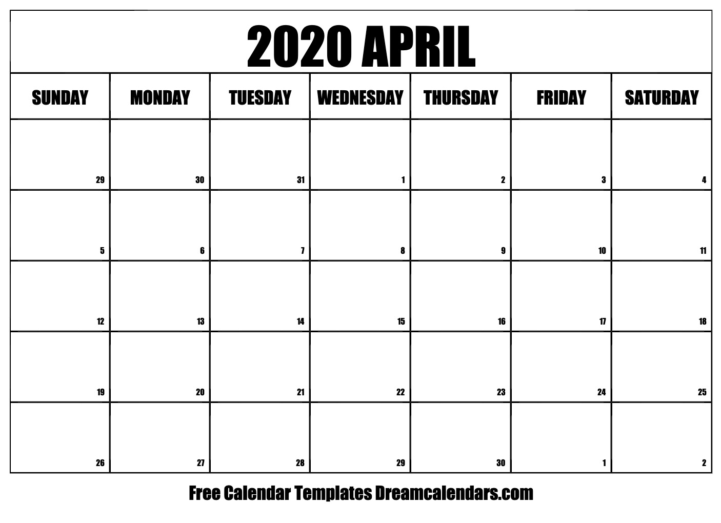 This is a graphic of Mesmerizing Printable April 2020