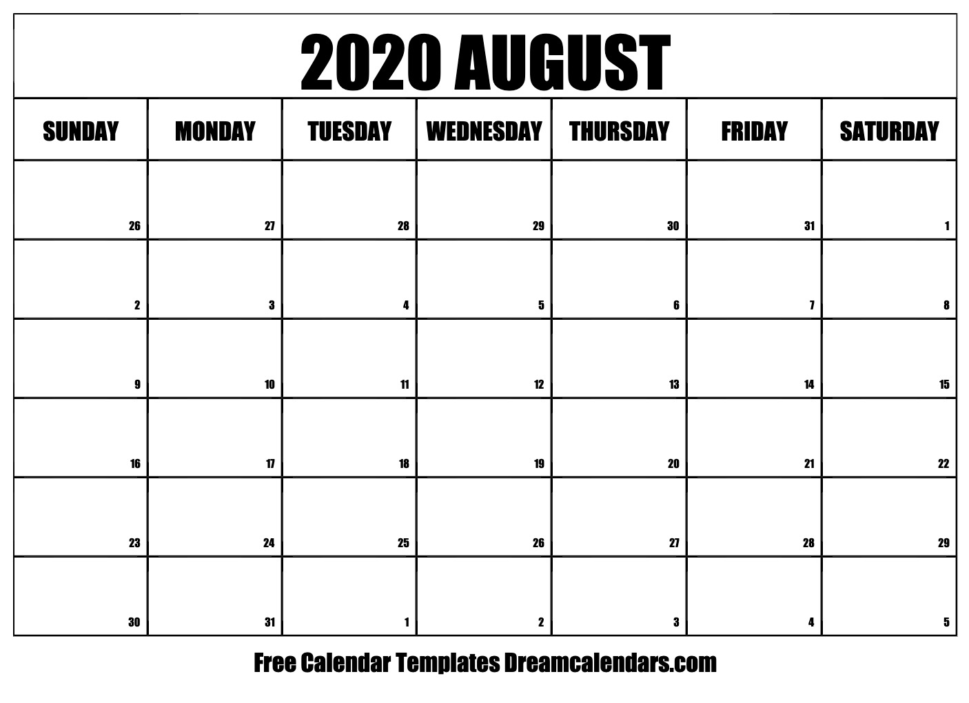 It is an image of Unusual Printable August 2020