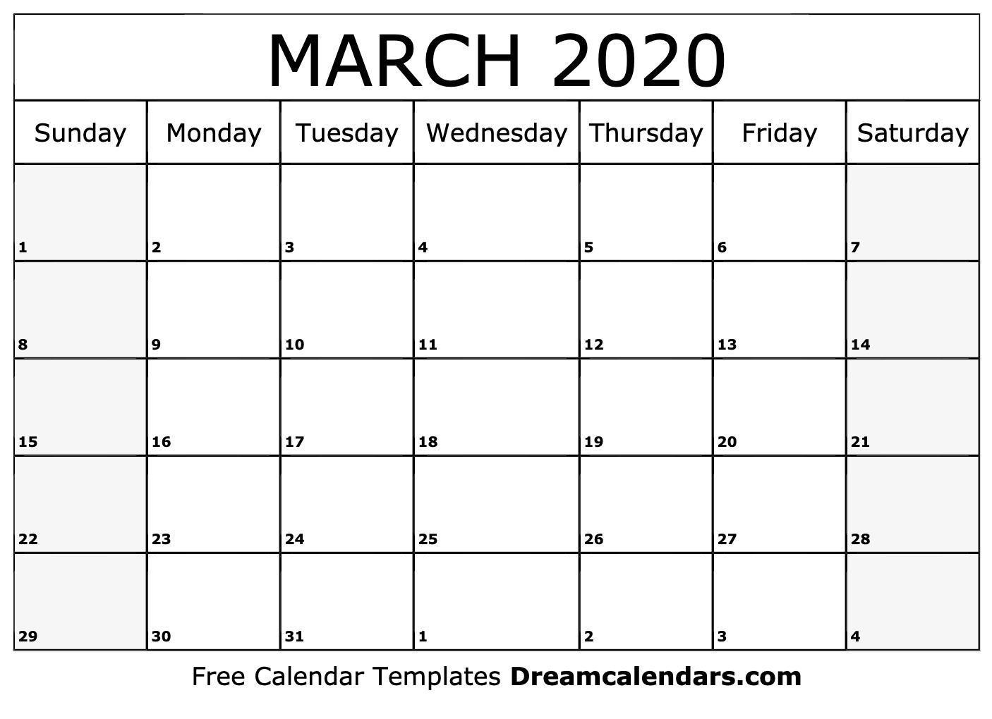 This is an image of Ambitious Printable March 2020