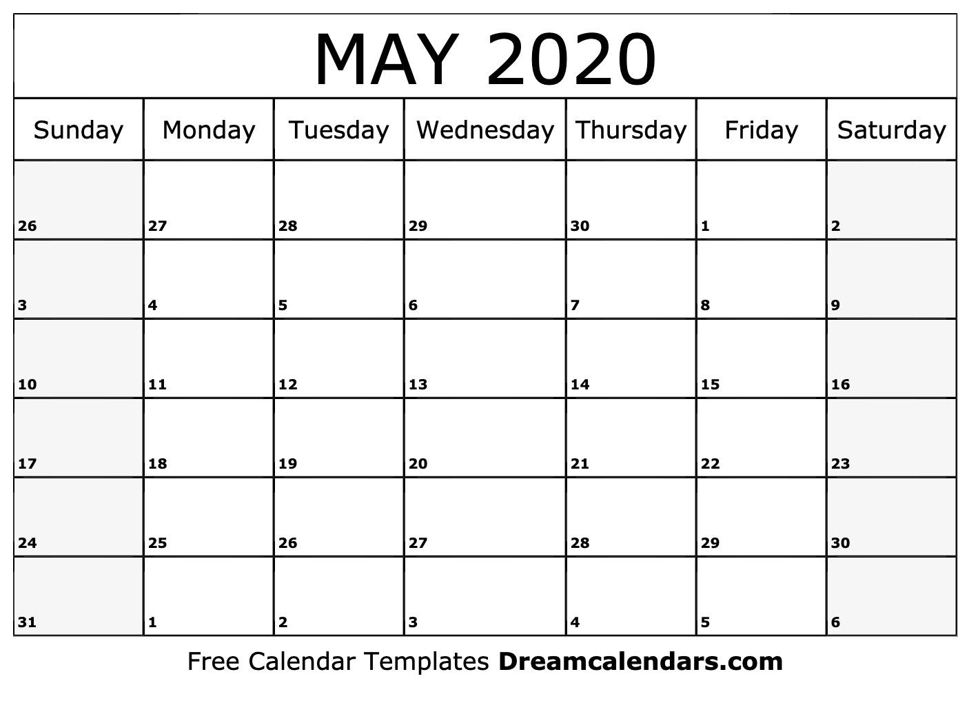 2020 May Calendar Ko fi   Printable May 2020 Calendar   Ko fi ❤️ Where creators