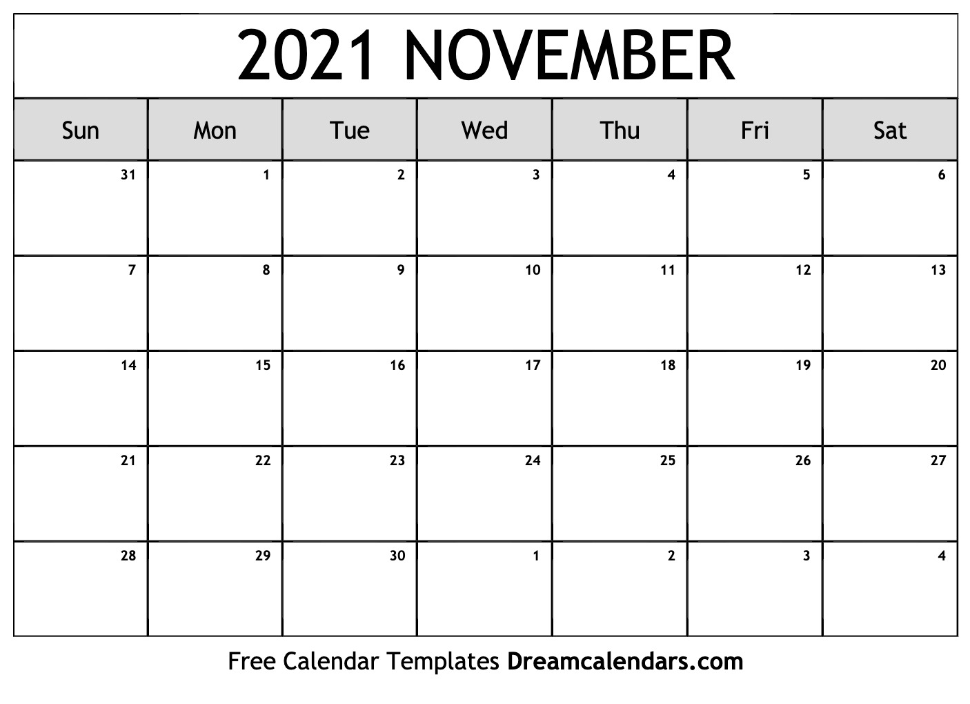 Calendar For Nov 2021 November 2021 calendar | free blank printable templates