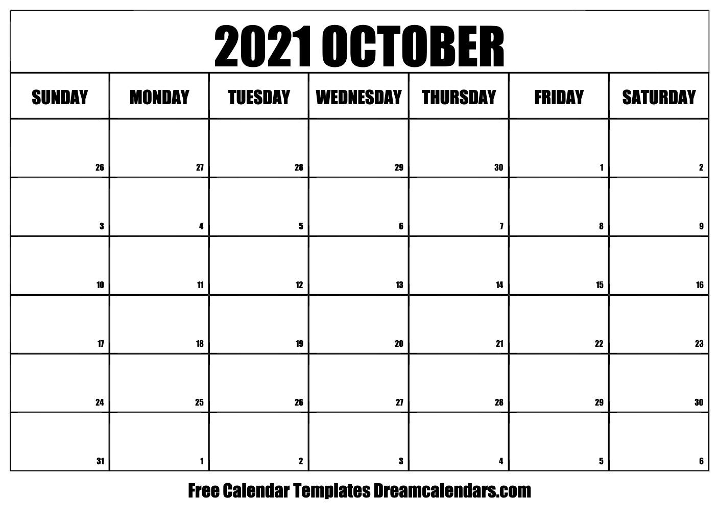 October 2021 calendar | free blank printable templates