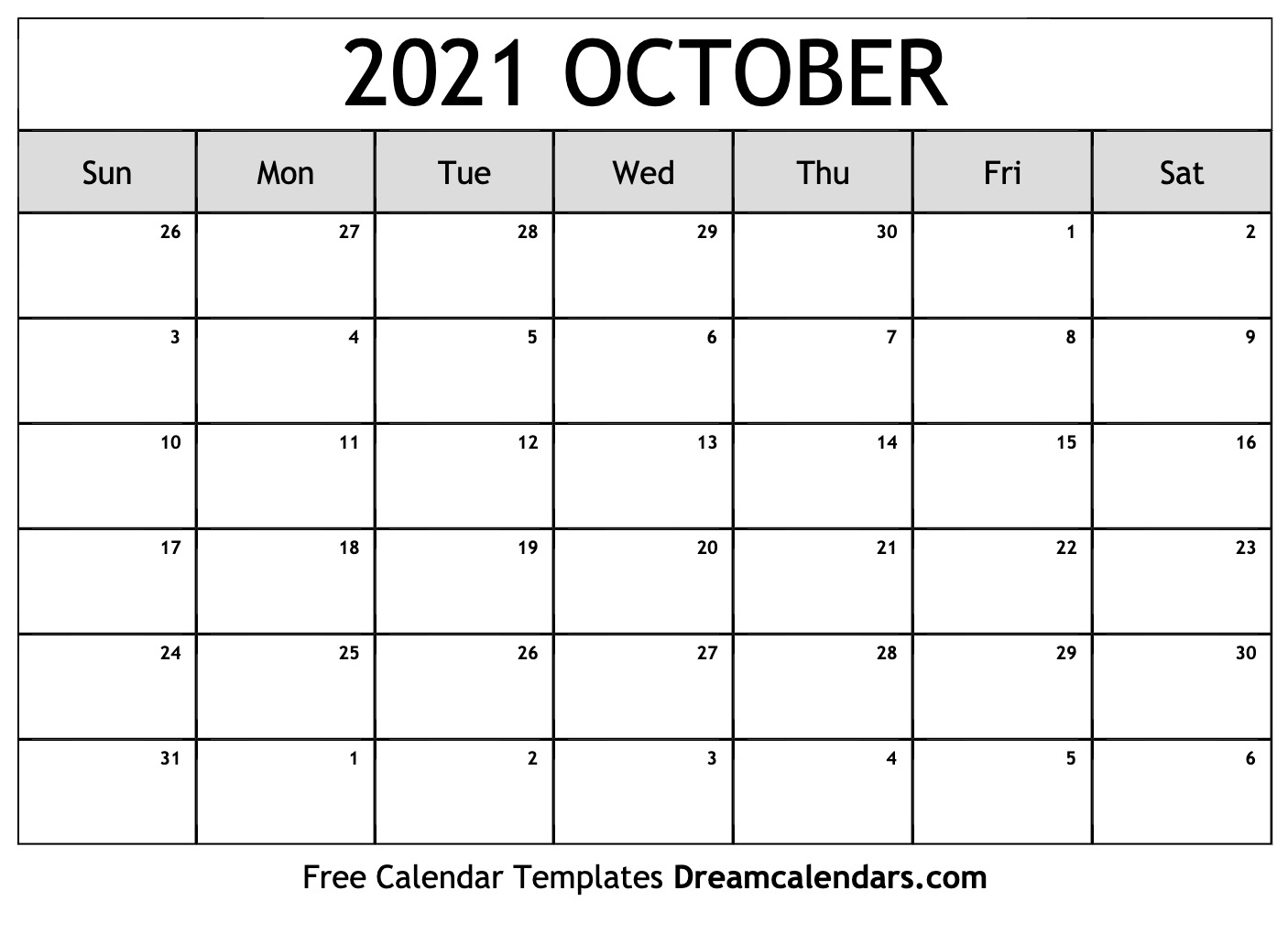October 27 2021 Calendar Printable October 2021 Calendar