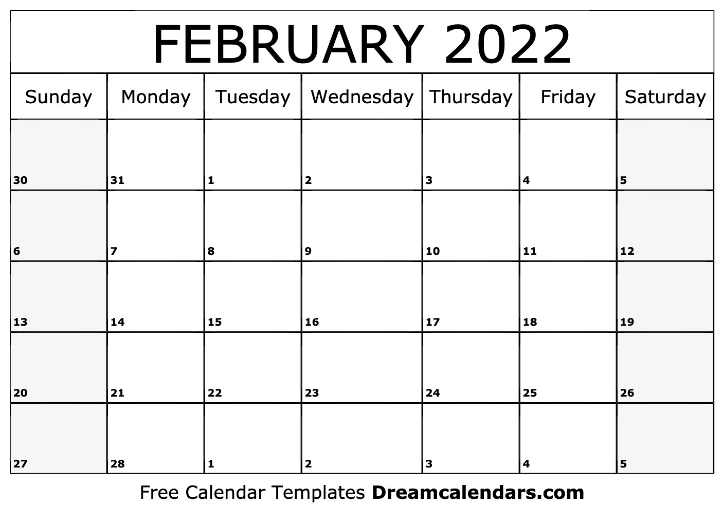 photo about 2022 Calendar Printable identified as Printable February 2022 Calendar
