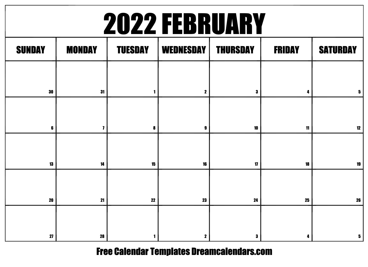 Goodwill Sales Calendar 2022.February 2022 Calendar Free Blank Printable Templates
