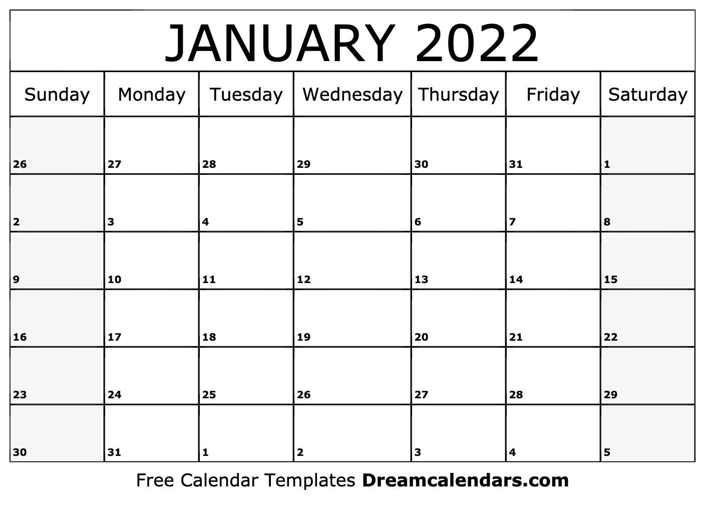 Ucf Spring 2022 Calendar.January 2022 Calendar Free Blank Printable Templates