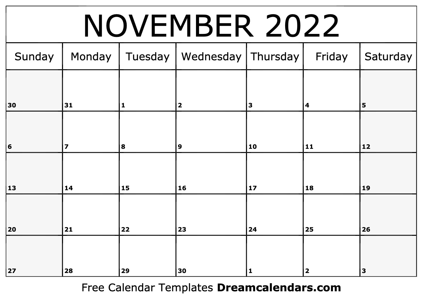 Nov 2022 Calendar With Holidays.November 2022 Calendar Free Blank Printable Templates