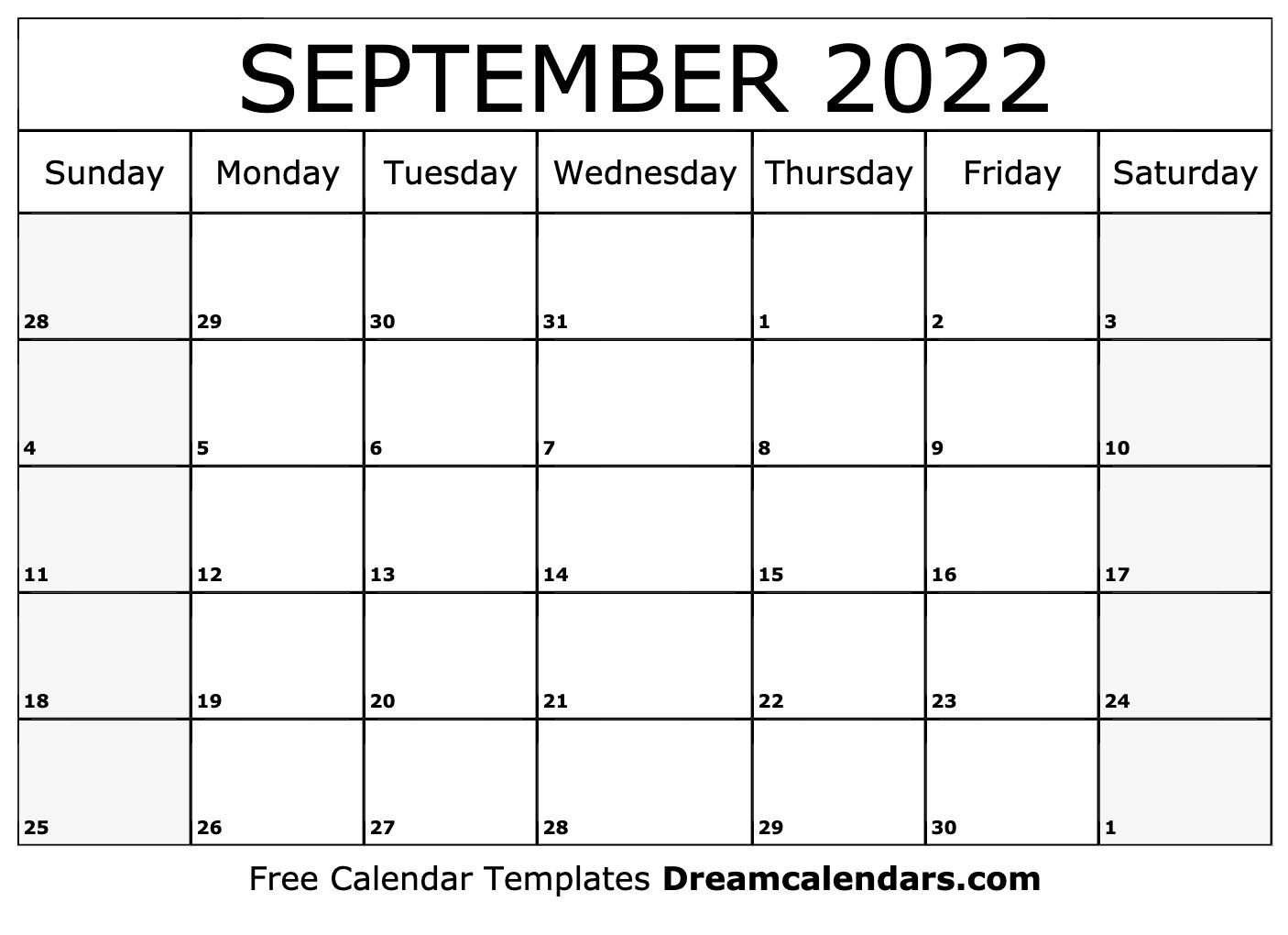 September 2022 Calendar Wallpaper.September 2022 Calendar Free Blank Printable Templates