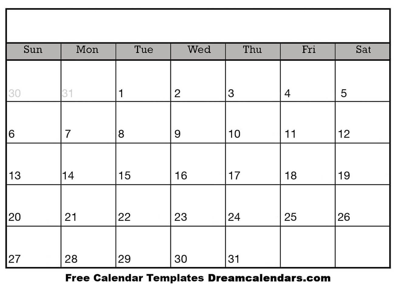 graphic relating to Printable Calendar Template known as Ko-fi - Blank Printable Calendar Templates - Ko-fi