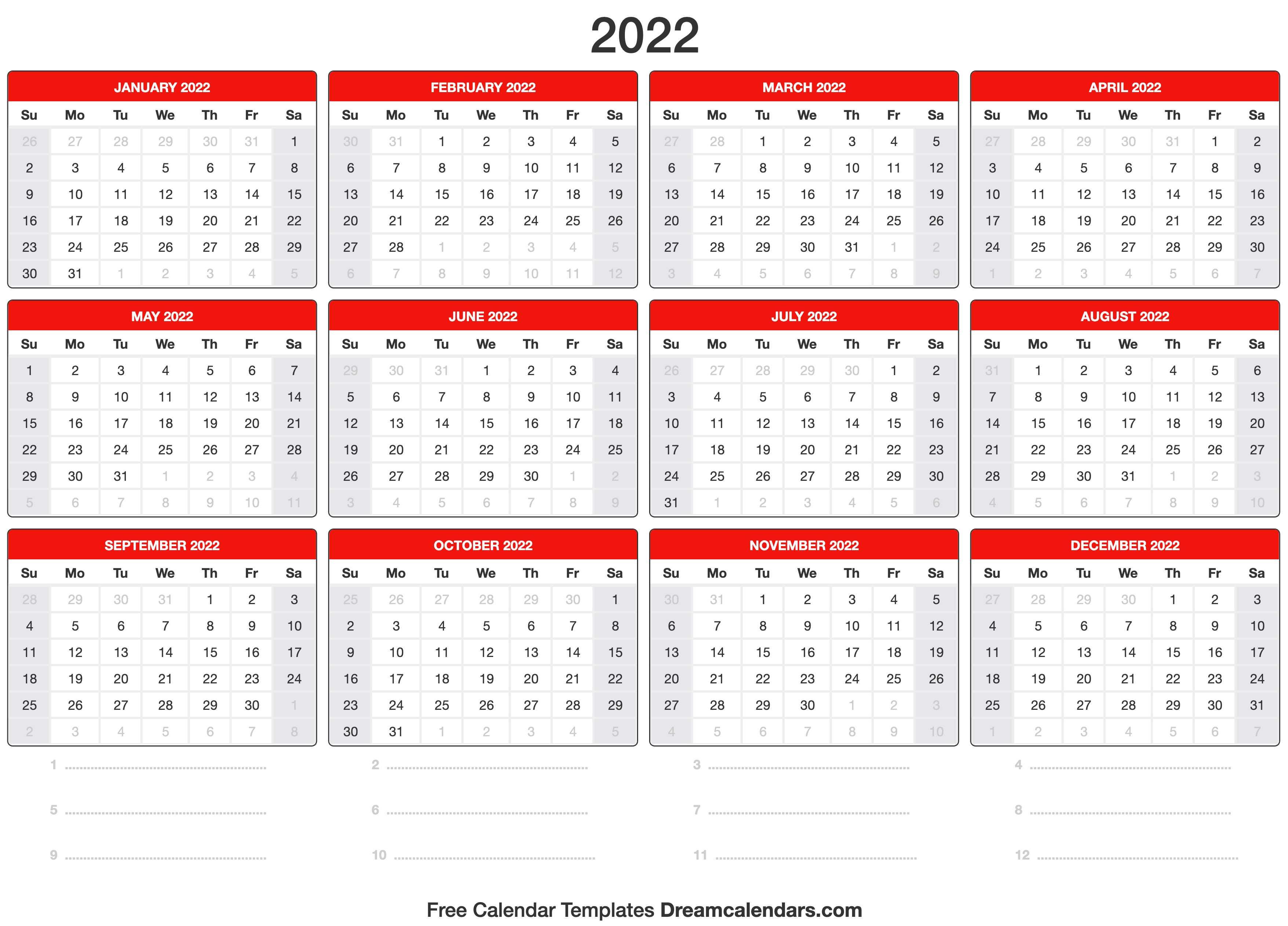 Work Week Calendar 2022.2022 Calendar